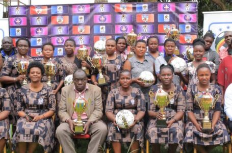 DONATION: Uganda Women's Football Association Supports Regions With Trophies